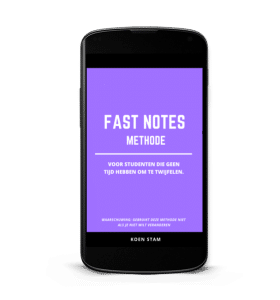 fast notes methode